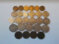 27 FOREIGN COINS 1920S TIBET  X4    1950S 1960S & 1970S MYAN