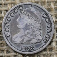 1833 10C F  CAPPED BUST DIME   GREAT COLOR