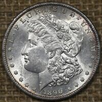 1890-S $1 UNC MORGAN SILVER DOLLAR