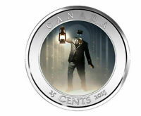 2015 HAUNTED CANADA 25 CENTS COIN   THE BRAKEMAN