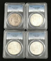 4 FOUR 1921 MORGAN SILVER DOLLARS PCGS MINT STATE 62 MINT STATE 62