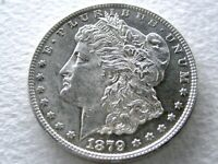 1879-S 2ND REV. OF '78 MORGAN SILVER DOLLAR, EXTREME DETAIL - 8-N