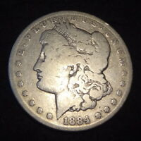 1884-CC MORGAN SILVER DOLLAR - CHOICE G DETAILS FROM THE CARSON CITY MINT
