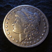 1886-S MORGAN SILVER DOLLAR - SHINY FINE F DETAILS FROM THE SAN FRANCISCO MINT