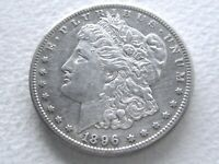 1896-S MORGAN SILVER DOLLAR,  DATE  STRONG DETAIL - 25-H