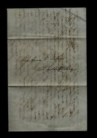 1848 COLUMBUS GA STAMPLESS LETTER SLAVES DROWN OTHERS FREED