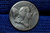 1794 HALF CENT  C5 SMALL EDGE LETTERS   BROWN  VF DETAILS  R4
