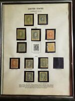CONFEDERATE STATES STAMPS PAGE   1861 1863   FRAMED