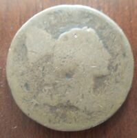 NO DATE LIBERTY CAP FLOWING HAIR LARGE CENT PENNY THIN FLAN 1795-1796 79 VISIBLE