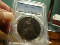 1841 LIBERTY SEATED DOLLAR _ PCGS XF 40 _ NO PROBLEMS HERE