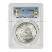 1881-O $1 SILVER MORGAN DOLLAR PCGS MINT STATE 66 PQ APPROVED NEW ORLEANS GEM GRADED