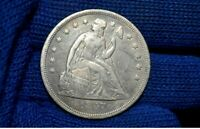 1847 SEATED LIBERTY SILVER DOLLAR EXTRA FINE  / AU FULL LIBERTYGET 5 OFF AT CHECKOUT
