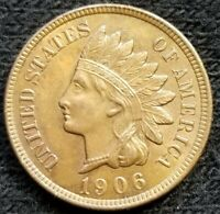 1906 INDIAN HEAD CENT OLD US COPPER COIN