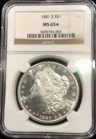 1881-S NGC MINT STATE 65