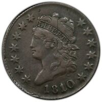1810/9 OVERDATE CLASSIC HEAD LARGE CENT PCGS VF30