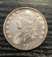 1830 CAPPED BUST HALF DOLLAR 50C EXTRA FINE   US COIN