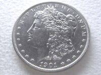 1901 MORGAN DOLLAR,  DDR VAM 3 SHIFTED EAGLE DOUBLED TAIL FEATHERS 1-A