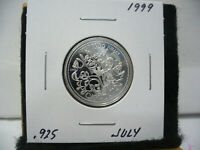 1999  CANADA 25 CENT  QUARTER  DOLLAR  SILVER PROOF   .925  JULY