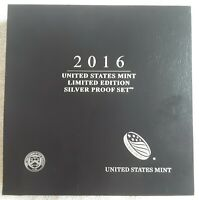 2016 US MINT LIMITED EDITION SILVER PROOF SET WITH ORIGINAL