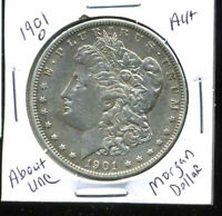 1901 O AU MORGAN DOLLAR 100 CENT  ABOUT UNCIRCULATED 90 SILVER US $1 COIN 4999