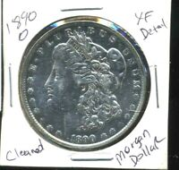 1890 O EXTRA FINE  DETAIL MORGAN DOLLAR CLEANED EXTRA FINE 90 SILVER US $1 COIN 4925