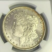 1879 O MORGAN DOLLAR,  NEW ORLEANS US $1 SILVER, NGC MINT STATE 62
