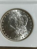 1887 US MORGAN DOLLAR GRADED MINT STATE 65 BY NGC