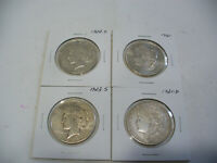 LOT OF 4  USA ONE  1 $ DOLLAR   SILVER COINS   PIECES   90      LOT A
