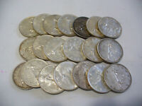 LOT OF  20 1960  CANADA  SILVER  1$  ONE DOLLAR  COINS  SILVER  SEE PHOTOS