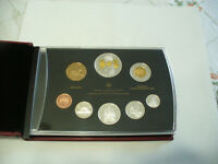 2005  CANADA PROOF SET   TOONIE  LOONIE FIFTY CENT QUARTER NICKEL DIME PENNY