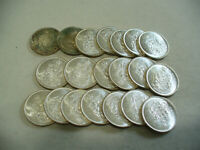 LOT OF 20 1965  CANADA  HALF  DOLLAR  SILVER  COINS  65  LOT A  50 CENT  PIECE
