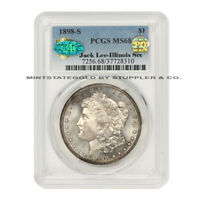 1898-S $1 SILVER MORGAN PCGS MINT STATE 68 CAC CERTIFIED PQ APPROVED ILLINOIS JACK LEE