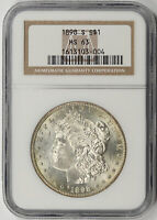 1898-S MORGAN DOLLAR SILVER $1 MINT STATE 63 NGC