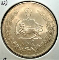SH 1311  WESTERN YEAR 1932  SILVER 5 RIALS COIN FROM THE MID