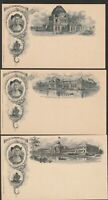USA 1893 COLUMBIAN EXPO ILLUSTRATED STATIONERY CARDS 12 DIFF