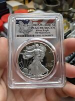 2017-W PR70 PCGS DEEP CAMEO SILVER EAGLE PROOF WP MINT HOARD FLAG LABEL SERIES