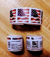 2 ROLLS  200  USPS FOREVER US FLAG 2017/2018 FIRST CLASS STA