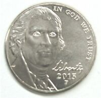 2015 P JEFFERSON NICKEL -  BU COIN PULLED FROM OBWROLL