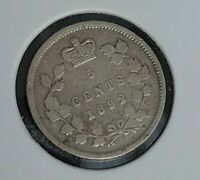 1892 CANADA 5 CENT COIN