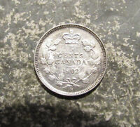 1902 SILVER CANADA 5 CENTS VERY NICE DETAIL