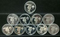 10 COIN 1983 S PROOF OLYMPIC DISCUS SILVER DOLLAR LOT OF TEN