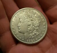 1921-S MORGAN SILVER DOLLAR LAST YEAR OF ISSUE - GREAT LUSTER 90 SILVER