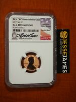 2019 W REVERSE PROOF LINCOLN CENT NGC GEM PROOF LYNDALL BASS
