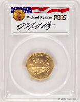1995 W $5 OLYMPIC STADIUM GOLD COIN PCGS MS70   MICHAEL REAG