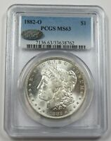 1882-O PCGS MINT STATE 63 MINT STATE SILVER MORGAN DOLLAR $1 US COIN ITEM 29651A