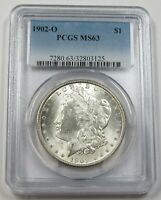 1902-O PCGS MINT STATE 63 MINT STATE SILVER MORGAN DOLLAR $1 US COIN ITEM 29654A