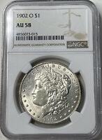 1902-O MORGAN SILVER DOLLAR - NEW ORLEANS MINTAGE - NGC AU58 -  LUSTER
