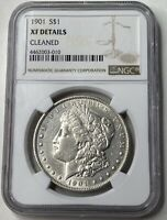 1901-P MORGAN SILVER DOLLAR - TOUGHER PHILLY MINTAGE - NGC EXTRA FINE  DETAILS -