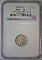 1895 O BARBER SILVER DIME KEY DATE LOW MINTAGE   NGC XF EF EXTRA FINE DETAILS