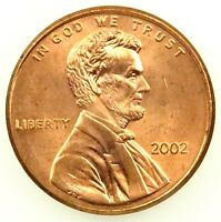 2002 UNCIRCULATED LINCOLN MEMORIAL CENT PENNY BU B02